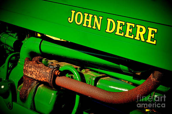Wall Art - Photograph - John Deere Tractor Mystery by Olivier Le Queinec