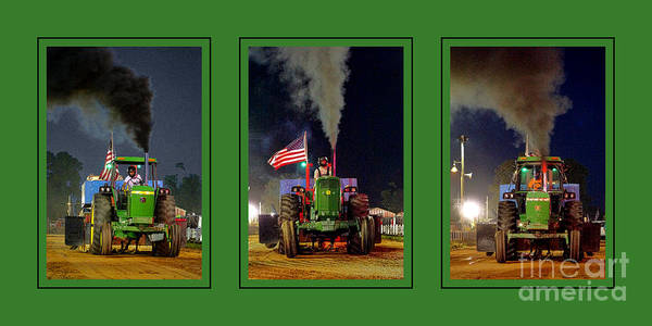 Photograph - John Deere Tractor Pull Poster by Olivier Le Queinec