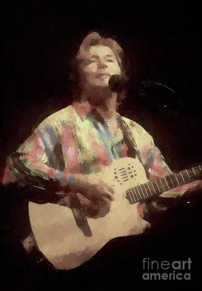 Folk Singer Photograph - John Denver Painting by Concert Photos