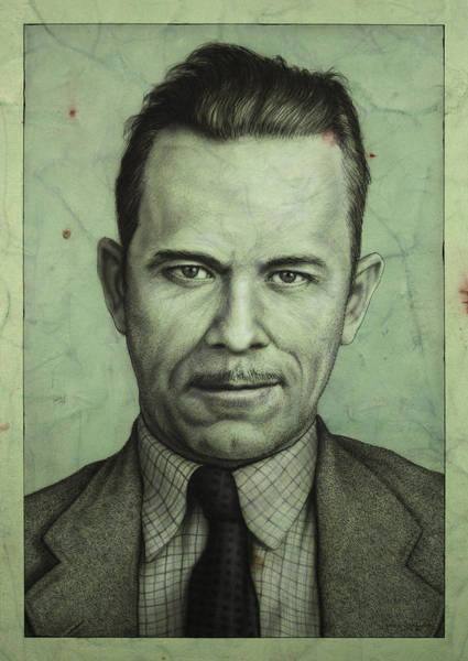 Johnson Wall Art - Painting - John Dillinger by James W Johnson