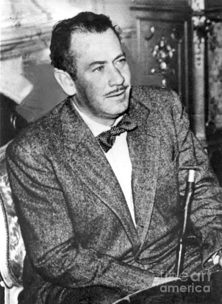 Photograph - John E. Steinbeck Circa 1950 by California Views Archives Mr Pat Hathaway Archives