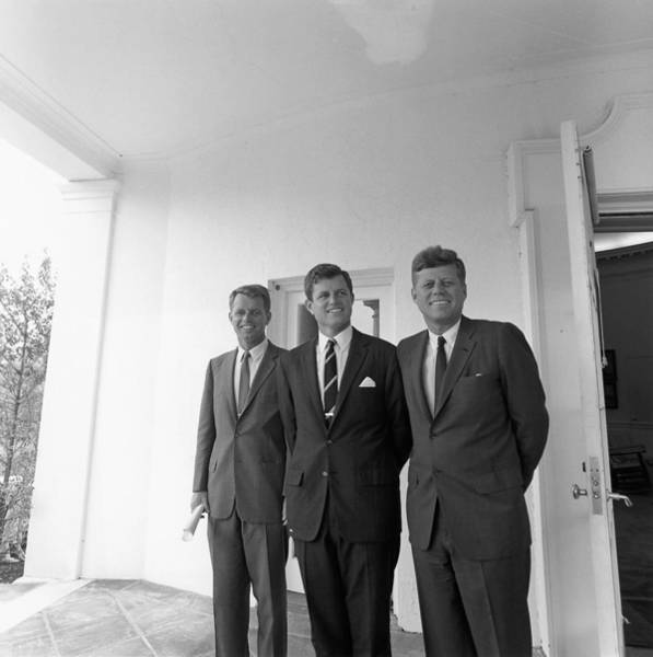 Photograph - John, Edward And Robert Kennedy  by Cecil Stoughton