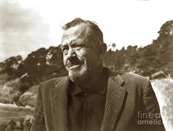 Photograph - John Ernst Steinbeck, Pebble Beach, California 1960  by California Views Archives Mr Pat Hathaway Archives