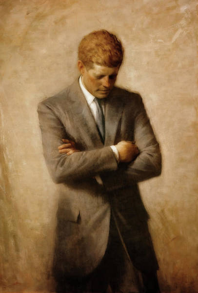 Wall Art - Painting - John F. Kennedy by Aaron Shikler