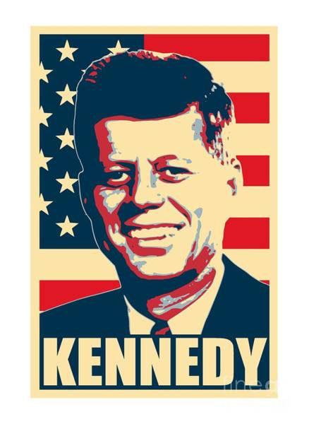 Wall Art - Mixed Media - John F Kennedy American Propaganda Poster Art by Filip Hellman