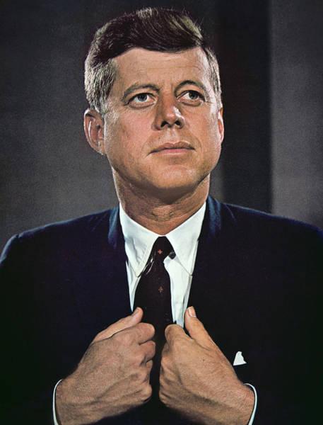 John F Kennedy Photograph - John F Kennedy by American School