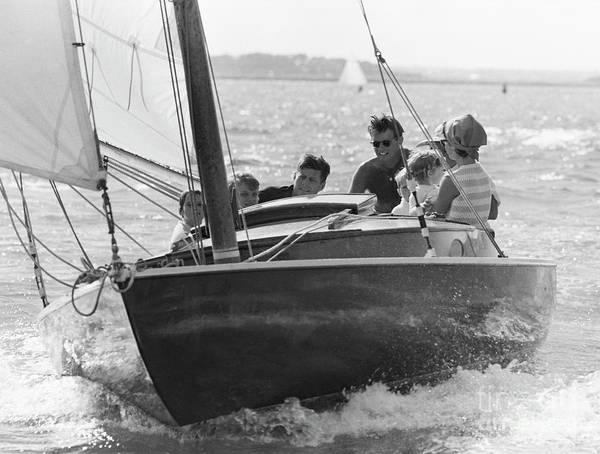 John F Kennedy Photograph - John F. Kennedy And Family by The Harrington Collection