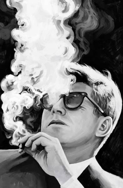 John Mixed Media - John F. Kennedy Artwork 1 by Sheraz A