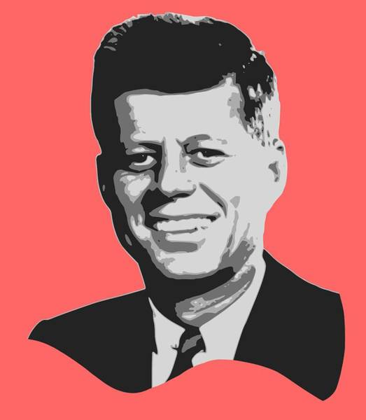Wall Art - Digital Art - John F Kennedy Black And White Pop Art by Filip Hellman
