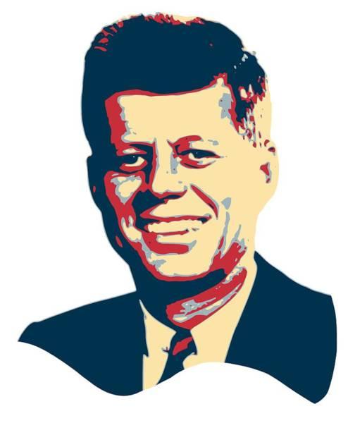 Trump Digital Art - John F Kennedy Color Pop Art by Filip Hellman