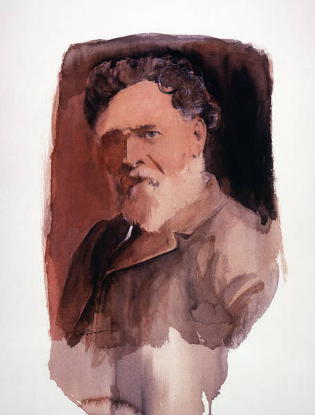 Painting - John Fannin Portrait by David Lloyd Glover