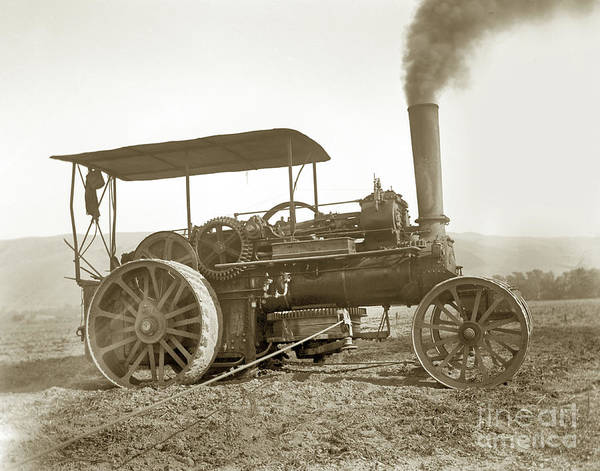 Photograph - John Flower - Co. Leeds Steam Trcker Circa 1895 by California Views Archives Mr Pat Hathaway Archives