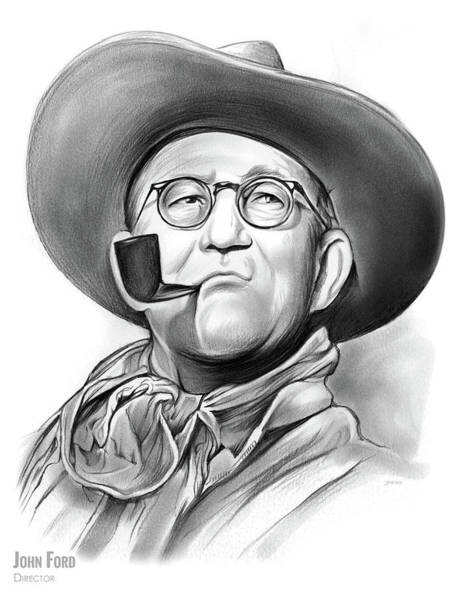Movie Drawing - John Ford by Greg Joens
