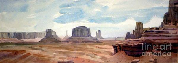 Monument Valley Navajo Tribal Park Wall Art - Painting - John Ford Point Panorama by Donald Maier