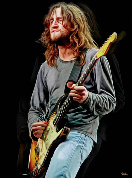 Empyrean Digital Art - John Frusciante by Mal Bray