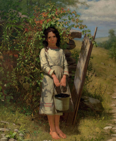 Painting - John George Brown Blackberry Picking 1875 by Movie Poster Prints