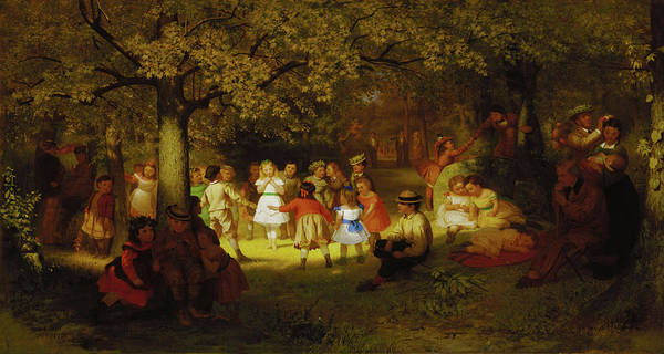 Painting - John George Brown Picnic Party In The Woods 1872 by Movie Poster Prints