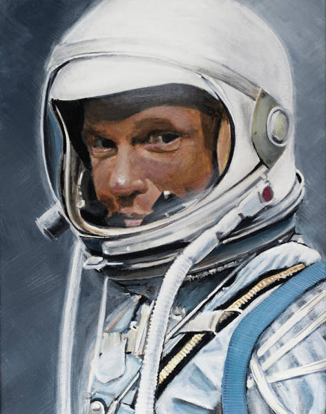 Nasa Wall Art - Painting - John Glenn by Simon Kregar