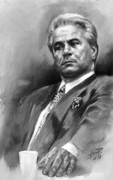 Portraits Drawing - John Gotti by Ylli Haruni