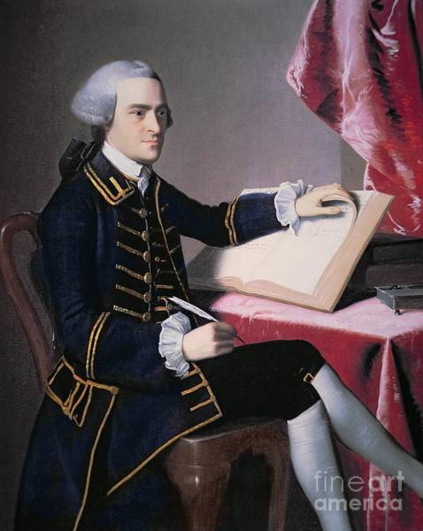 Thoughts Painting - John Hancock by John Singleton Copley