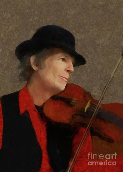 Wall Art - Painting - John Hartford, Country Music Legend by Mary Bassett