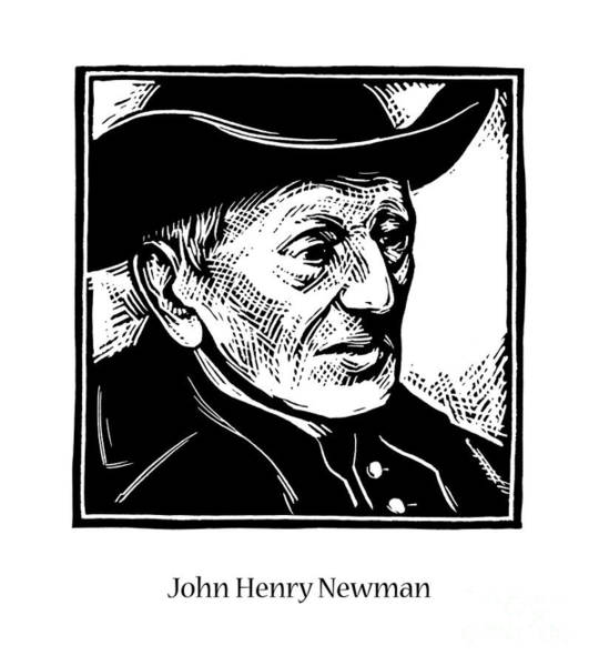 Painting - John Henry Newman - Jlnew by Julie Lonneman