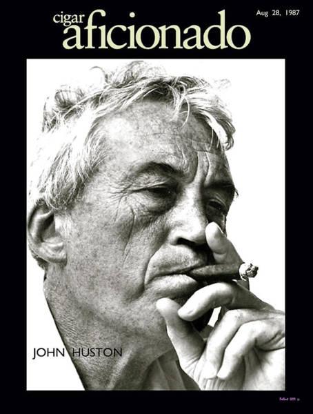 Warren Beatty Mixed Media - John Huston, Cigar Aficionado by Thomas Pollart