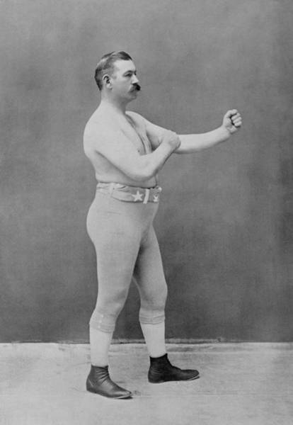 Boxing Photograph - John L. Sullivan - Heavyweight Boxing Champion by War Is Hell Store