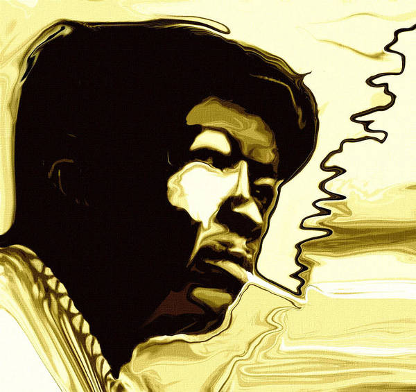 Rhythm Painting - John Lee Hooker by Jeff DOttavio