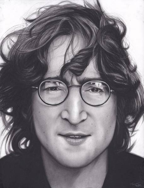 Drawing Wall Art - Drawing - John Lennon by Brittni DeWeese