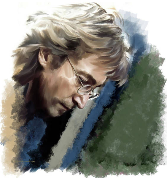 Painting - John Lennon Caring To Know by Iconic Images Art Gallery David Pucciarelli
