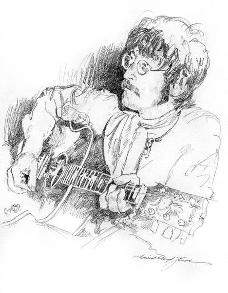 Drawing - John Lennon by David Lloyd Glover