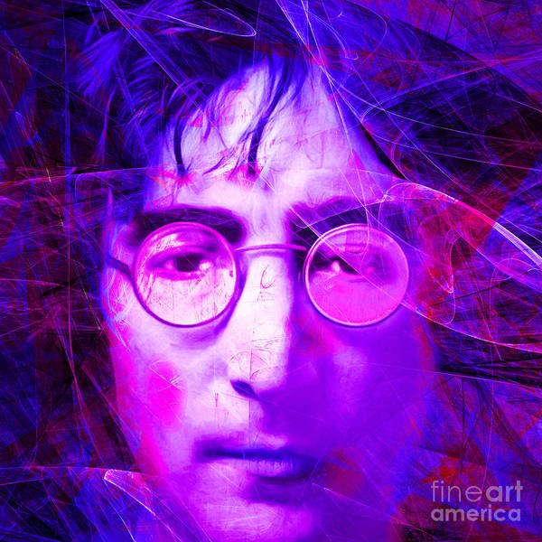 Photograph - John Lennon Imagine 20160521 Square V2 by Wingsdomain Art and Photography