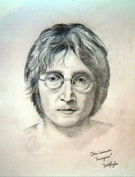 Wall Art - Digital Art - John Lennon Imagine by Digital Painting