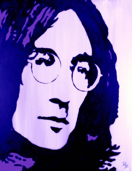 Painting - John Lennon, Little Boy Blue by Bob Baker