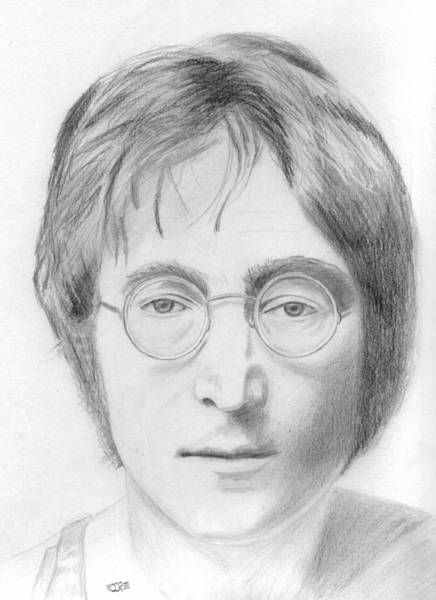 Drawing - John Lennon by Pat Moore