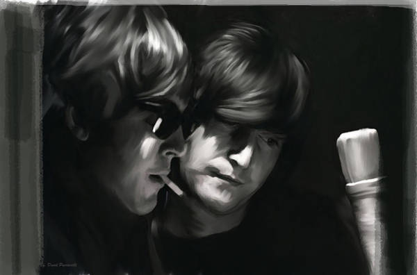 Painting - John Lennon Paul Mccartney Wordscapes  by Iconic Images Art Gallery David Pucciarelli