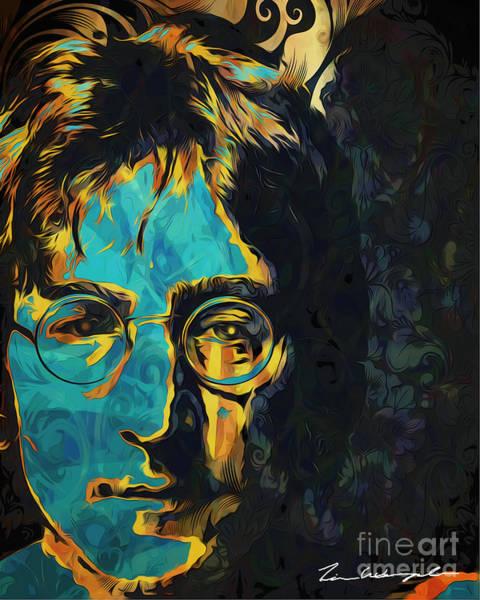Digital Art - John Lennon by Tim Wemple