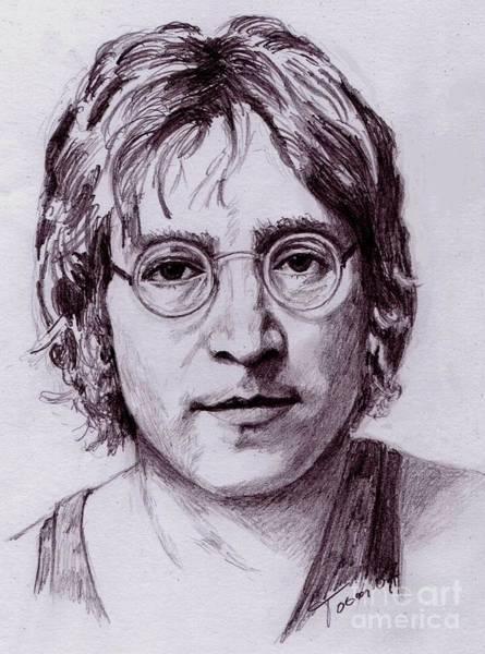 Drawing - John Lennon by Toon De Zwart