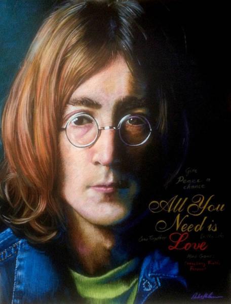 Wall Art - Drawing - John Lennon - Wordsmith by Robert Korhonen