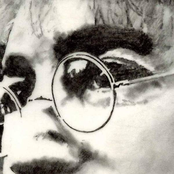 Wall Art - Photograph - John Lennon Grafito Sobre by Drawspots Illustrations
