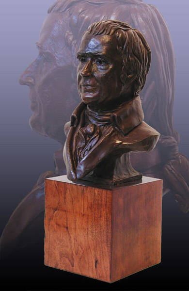 Sculpture - John Marshall Portrait Bust by John Gibbs