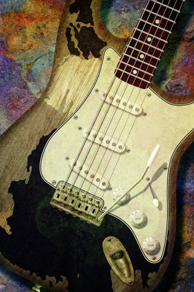 Wall Art - Photograph - John Mayer Black Stratocaster by WB Johnston
