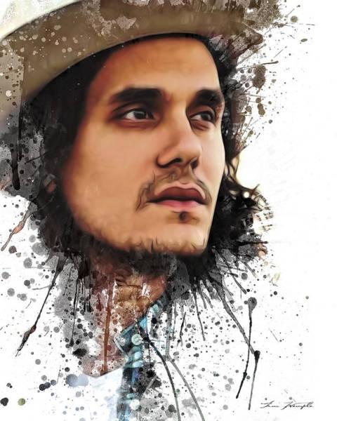 Digital Art - John Mayer by Tim Wemple