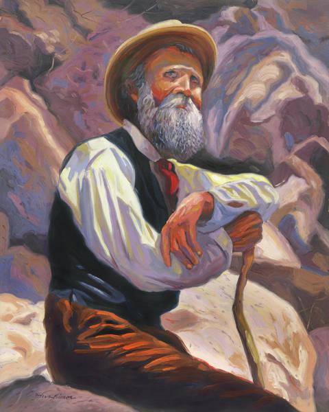 Sierra Nevada Painting - John Muir by Steve Simon