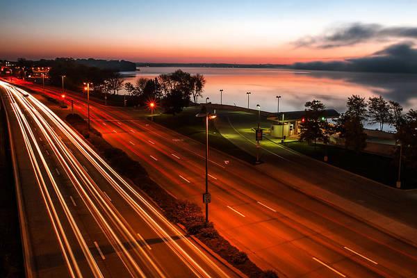 Lake Monona Photograph - John Nolen Lights by Todd Klassy