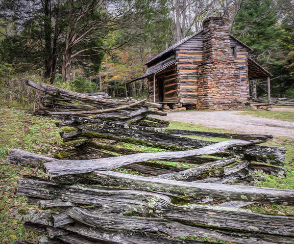 John Oliver Cabin Photograph - John Oliver Place - Great Smoky Mountains National Park by Wes Iversen