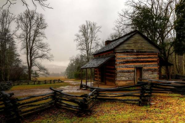 Photograph - John Oliver's Cabin In Cades Cove by Carol Montoya