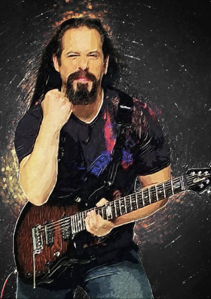 Wall Art - Digital Art - John Petrucci by Zapista Zapista