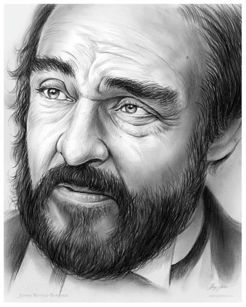 Michael Drawing - John Rys-davies by Greg Joens
